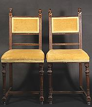 6 Antique Oak Chairs, C. 1900