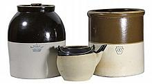 Stoneware (3 assorted), Robinson Ransbottom 20thC