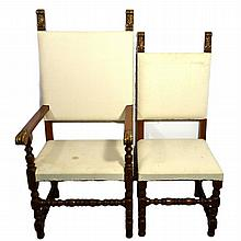 (2) Pair of Chairs, Fleur de lis