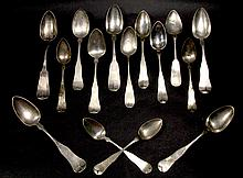 Massachusetts Silver Spoon Collection, 19th C.
