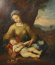 O/C Madonna and Child, 18th c. or earlier