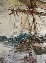 Print, The Rising Wind, Montague Dawson