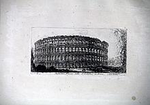 Etching, Coliseum, Piranesi, Mid-18th c.