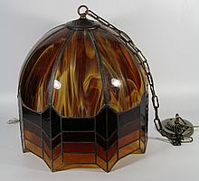 Lamp,stained glass hanging 20th century.