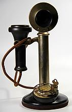 Telephone Candlestick North Elec 1920's w/ lock