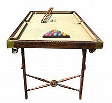 Billiards & Pool Table, Burrowes, Portable,c.1910