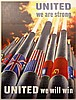 WWII Poster, United We Are Strong