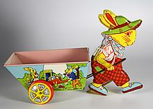 Toy Chein Rabbit w/Cart, 1940