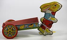 Toy Chein tin rabbit/cart
