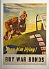 WWII Keep Him Flying, Georges Schreider, Large