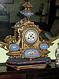 19thC French Ormulu Sevres porcelain mantel clock