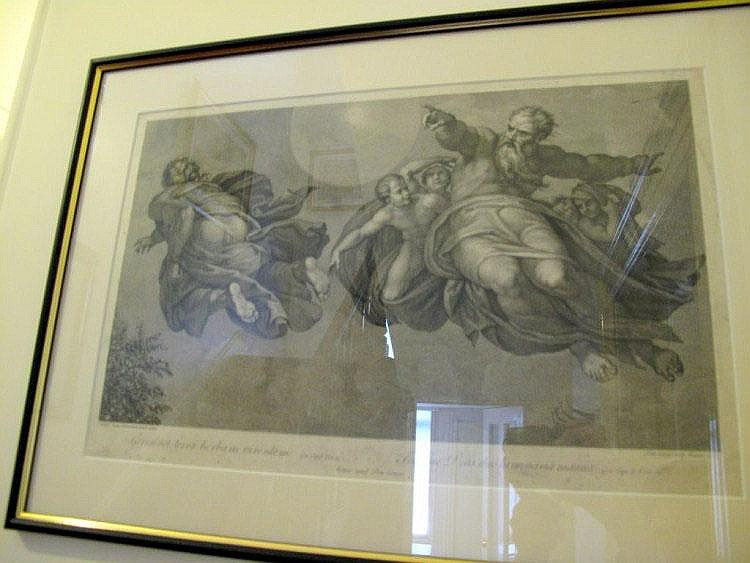 Framed 18thC etching by Domenico Cunego