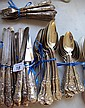Antique Kings pattern sterling silver flatware