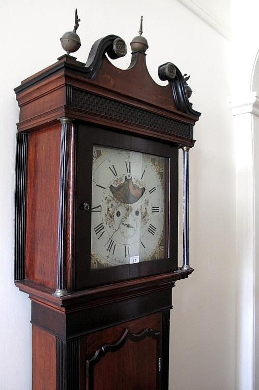 Antique eight day longcase clock Winstanley Wigan