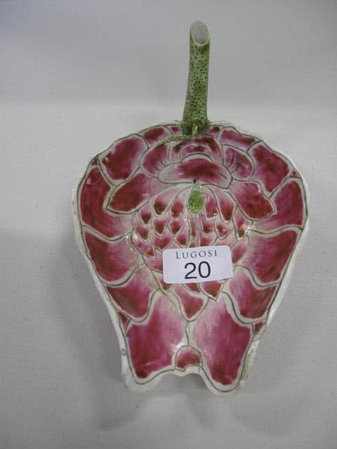 Chinese porcelain leaf form dish a/f