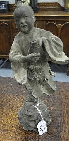Bronze metal figure of a Chinese boy