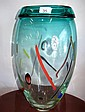 Large Murano studio glass vase signed
