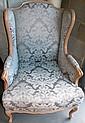 Pair Louis XVI style armchairs