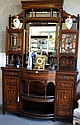 Fine antique inlaid rosewood cabinet
