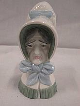 Royal Worcester Old Woman candle snuffer