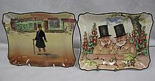 Royal Doulton Mr Micawber plate & Zunday Zmocks