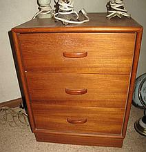 Two various vintage bedside timber cabinets