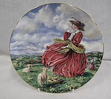 Royal Doulton Top 'o the Hill cabinet plate boxed