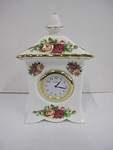 Royal Albert Old Country Roses desk clock 12cm h