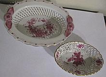 Herend small floral porcelain bowls (2)