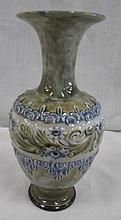 Doulton Lambeth Stoneware vase signed to base