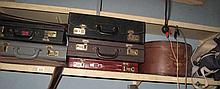 Shelf vintage hat box briefcases