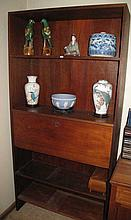 Retro timber book shelf wall/unit