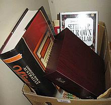 Box of assorted books on Wine & boxed wine set