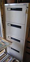 Precision four drawer metal filing cabinet with
