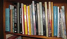 Shelf of various art books