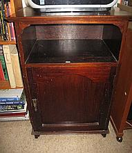 Vintage timber single door cabinet