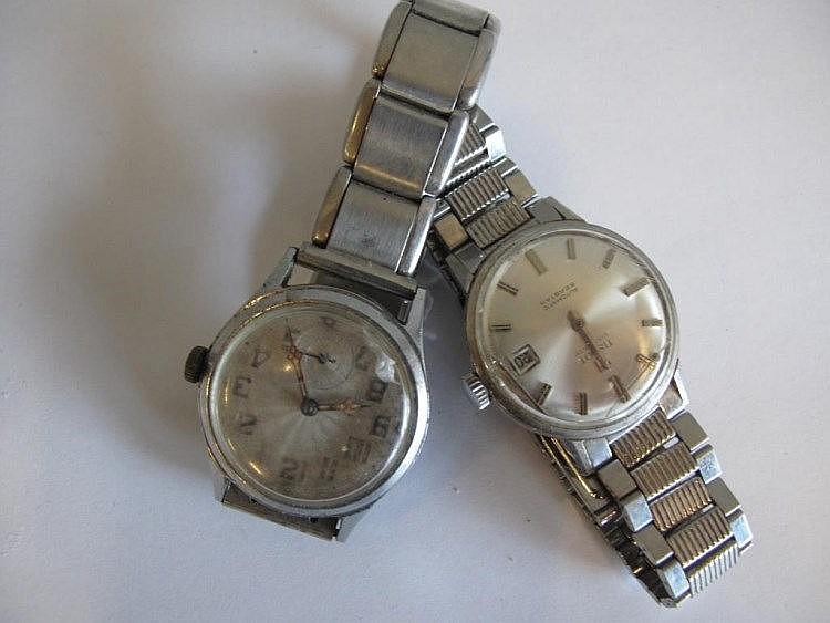 Two vintage men's wristwatches one Tissot Visodata