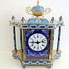 Cloisonne mantle clock measures 23.5cms Ht