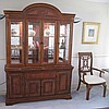 Drexel USA inlaid cherrywood display cabinet with