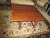 Vintage adjustable timber coffee table converts to