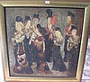 20thC Chinese oil canvas Tang style ladies Kuming
