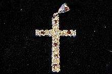 Solid Sterling Silver Rare Hand Made Large Cross