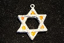 Solid Sterling Silver Rare Hand Made Large Star Pendant