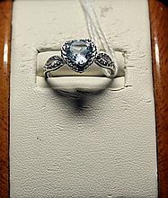 Beautiful Antique Style Royal Blue Topaz Sterling Silver Ring.