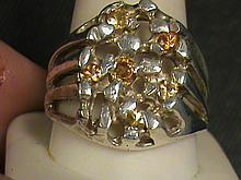 Fancy Nugget Canery Yellow Sapphire Ring.