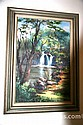 fine art / Ebert / waterfall oil painting