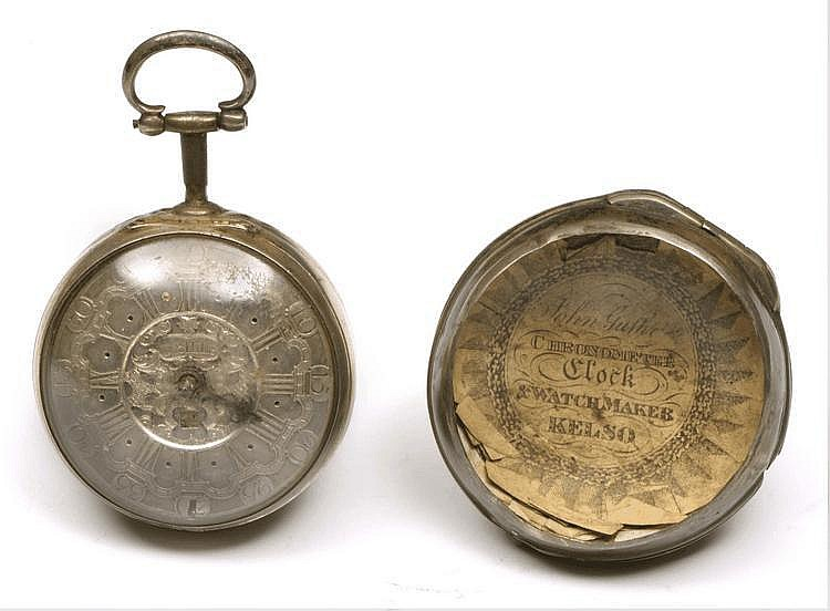AN 18TH CENTURY SILVER PAIR CASE WATCH by J Drills