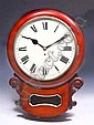 A VICTORIAN MAHOGANY CASED WALL CLOCK having a