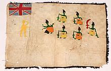 A COASTAL GHANA, FANTE TRIBE, ASAFO FLAG decorate
