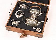 A HAMILTON & CO (CALCUTTA) SILVER FOUR PIECE TEA